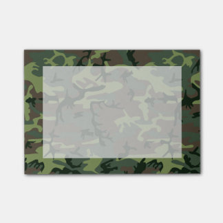 Camouflage Camo Green Brown Pattern Post-it Notes