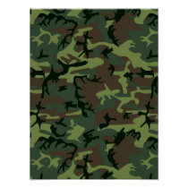 Camouflage Camo Green Brown Pattern Poster