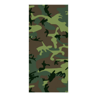 Camouflage Camo Green Brown Pattern Rack Card