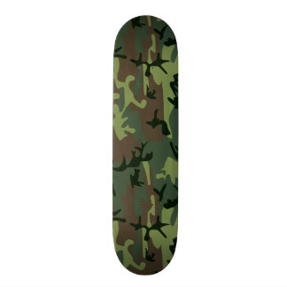 Camouflage Camo Green Brown Pattern Skateboard