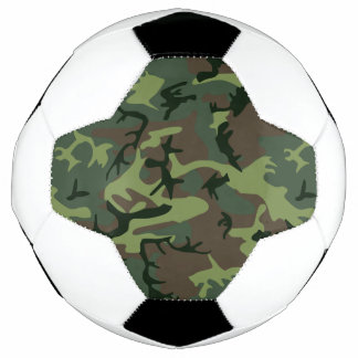 Camouflage Camo Green Brown Pattern Soccer Ball