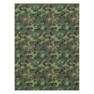 Camouflage Camo Green Brown Pattern Tablecloth