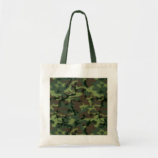Camouflage Camo Green Brown Pattern Tote Bag