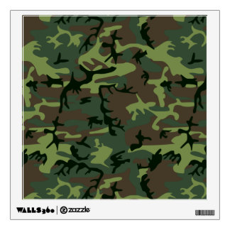Camouflage Camo Green Brown Pattern Wall Sticker