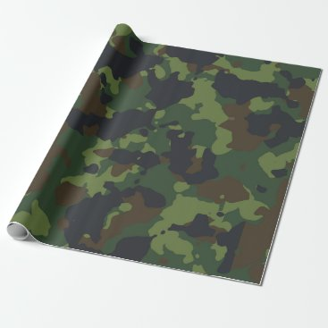 Camouflage Camo Green Military Forest Army Wrapping Paper