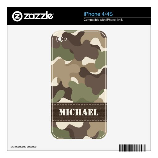 Camouflage Camo iPhone 4 / 4s Skin Decals For The iPhone 4S