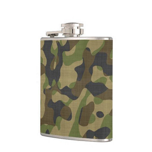 Camouflage, Camo, Military, Hunters Pattern Flask