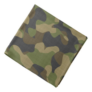 Camouflage, Camo, Military, Outdoorsmen Pattern Bandana