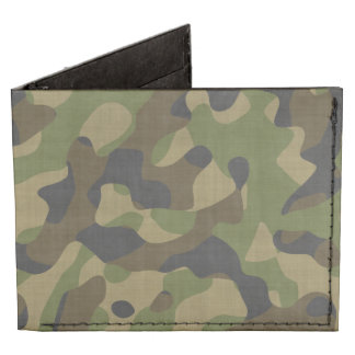 Camouflage, Camo, Military, Outdoorsmen Pattern Tyvek Wallet