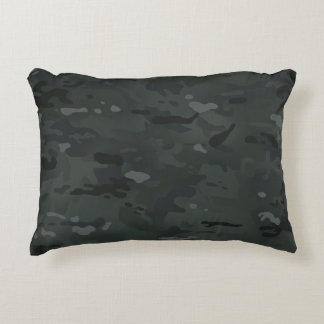 Camouflage Camo Pattern Night Colors Accent Pillow