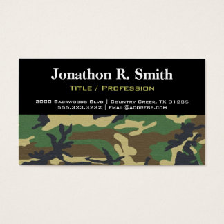 Camouflage / Camo Professional Business Card