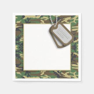 Camouflage / Camo Theme Birthday Party Disposable Napkin