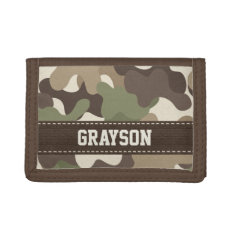 Camouflage Camo Trifold Wallet at Zazzle