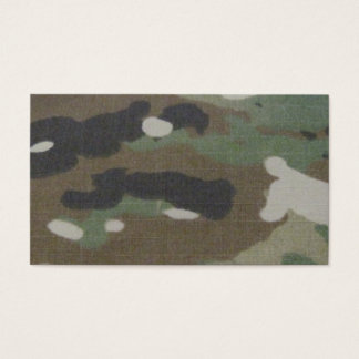 Camouflage Camo uniform fatigues office Business Card
