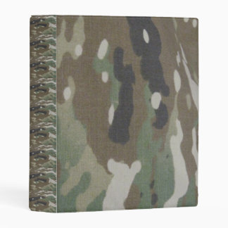 Camouflage Camo uniform fatigues office Mini Binder