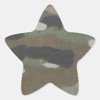 Camouflage Camo uniform fatigues office Star Sticker