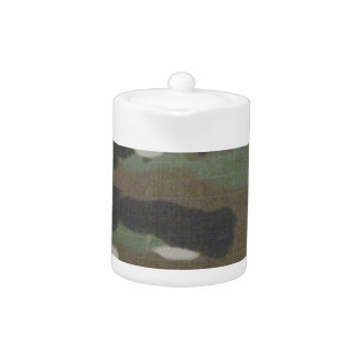 Camouflage Camo uniform fatigues office Teapot