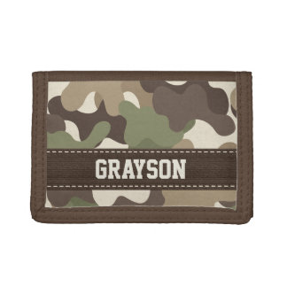 Camouflage Camo Tri-fold Wallets
