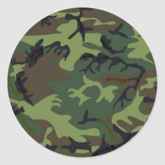 Camouflage Camouflage Classic Round Sticker