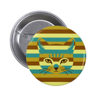 Camouflage Cat 2 Inch Round Button