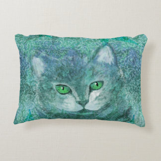 Camouflage Cat Nature Garden Decorative Pillow