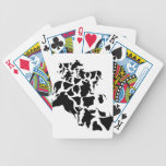 Camouflage cattle bicycle playing cards