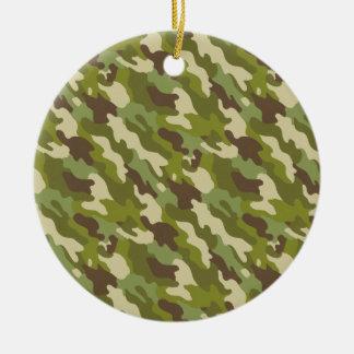Camouflage Ceramic Ornament