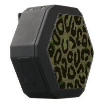 Camouflage Cheetah Abstract Black Bluetooth Speaker