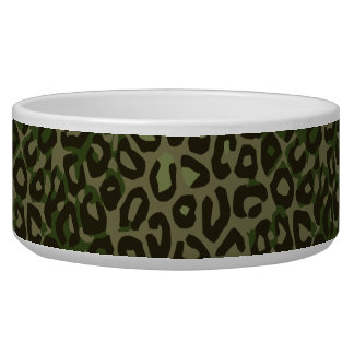 Camouflage Cheetah Abstract Bowl