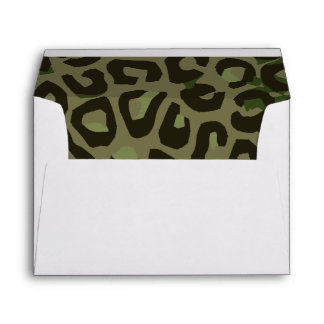 Camouflage Cheetah Abstract Envelope
