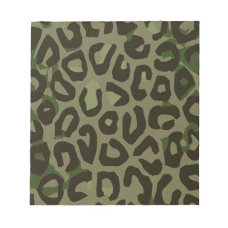 Camouflage Cheetah Abstract Notepad