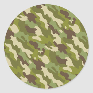 Camouflage Classic Round Sticker