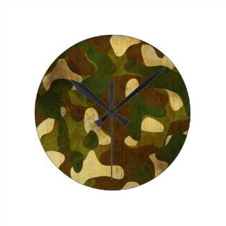 Camouflage Wall Clocks