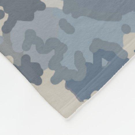 Camouflage Clouds Fleece Blanket
