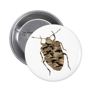 Camouflage Cockroach Silhouette Buttons