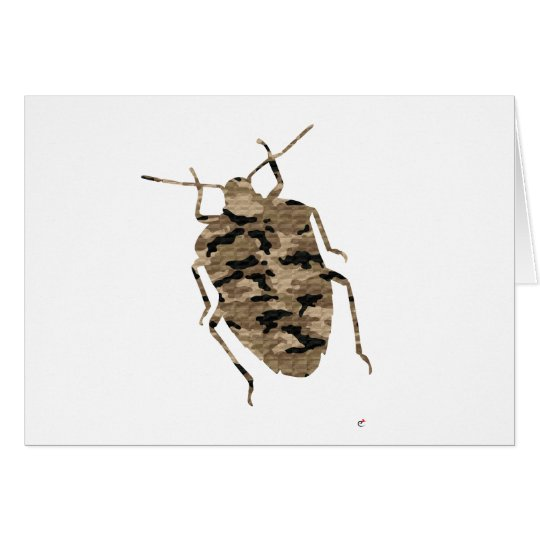 Camouflage Cockroach Silhouette Card