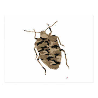Camouflage Cockroach Silhouette Postcard