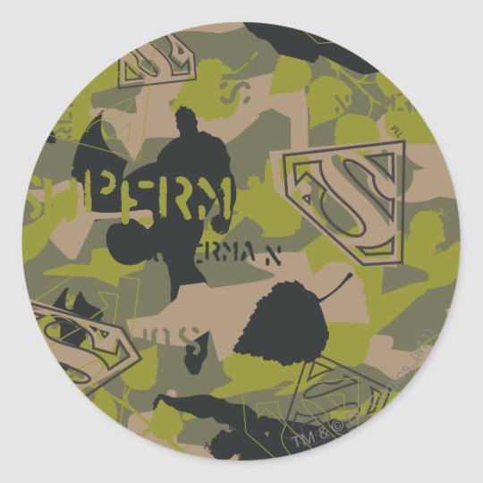 Camouflage Collage Classic Round Sticker