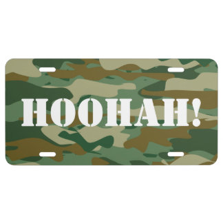 Camouflage color license plate | Personalized text