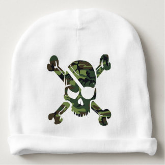 Camouflage Como Army Skull Head Print Baby Beanie