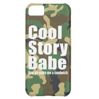 Camouflage Cool Story Babe iPhone 5C Cover