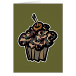 camouflage cupcake cards