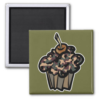 camouflage cupcake magnet