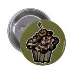 camouflage cupcake pinback button