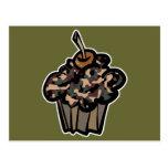 camouflage cupcake postcard