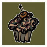 camouflage cupcake poster