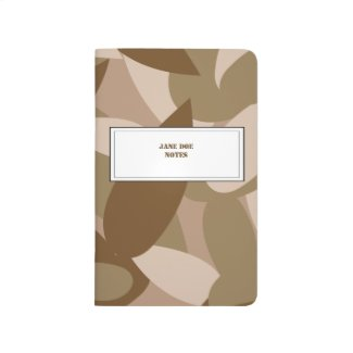 Camouflage custom name tag journal