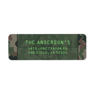 Camouflage Custom Return Address Labels