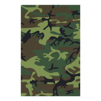 Camouflage Customized Stationery