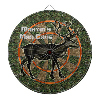 Camouflage Deer Hunter Man Cave Dart Board